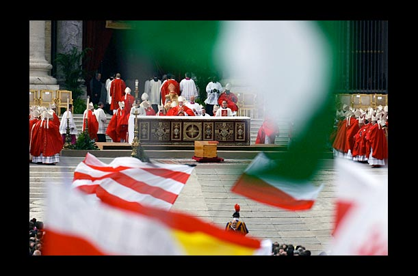 More than 2 million people gathered in Vatican City to bury Pope John Paul II on Friday