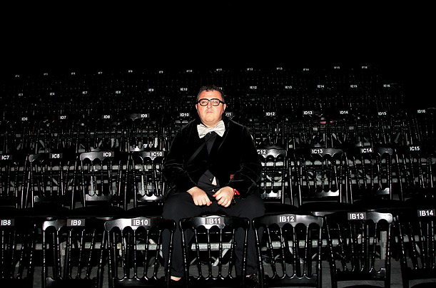 Israeli fashion designer Alber Elbaz attends the Lanvin Fall-Winter 2008-2009 Ready to Wear Fashion Show in Paris, France.