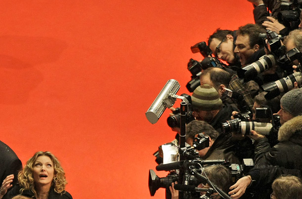 Michelle Pfeiffer arrives for the screening of the movie Cheri(ITALS) at the 59th Berlin International Film Festival.