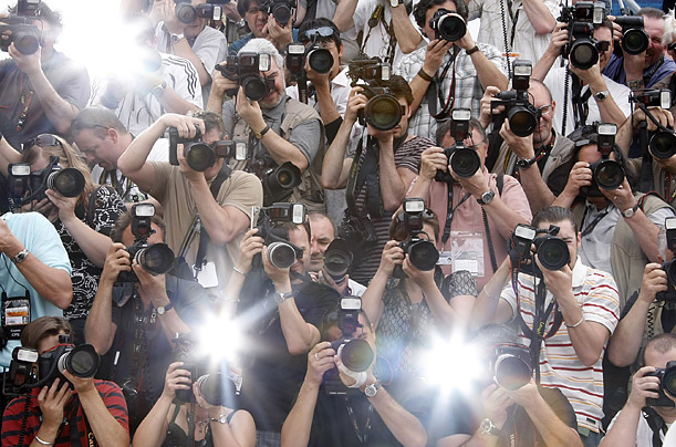 Photographers work a photocall at the 62nd Cannes Film Festival.