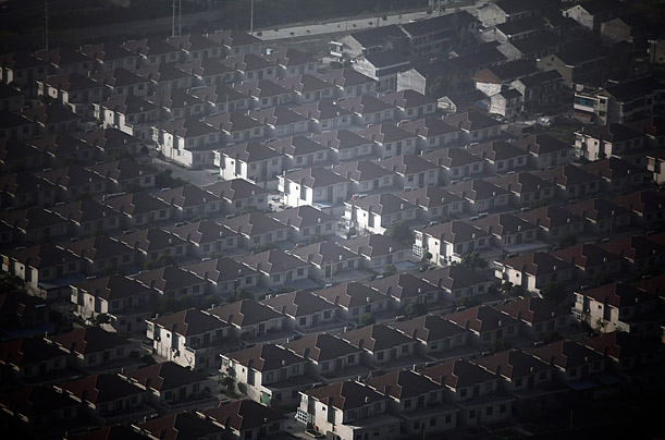 New houses stand in Huaxi village, China's richest village in Jiangsu province.